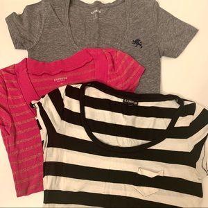 Lots of 3 Pcs - Express Short Sleeve Shirts